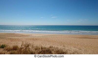 sommer, Gefilmt, himmelsgewölbe, Luftaufnahmen,  Algarve, Strände