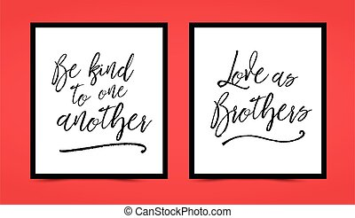 Christian lettering printable set - Be kind to one another,...