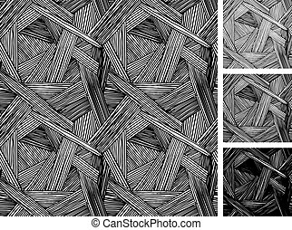 Simple pattern of rough hatching grunge texture - Seamless...