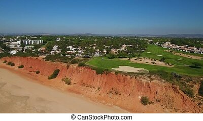 Aerial. Luxury golf courses Vale de Lobo. Algarve Portugal