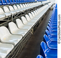 number of seats on the grandstand - number of blue and white...