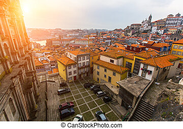 One of the streets of Porto old town, Portugal.