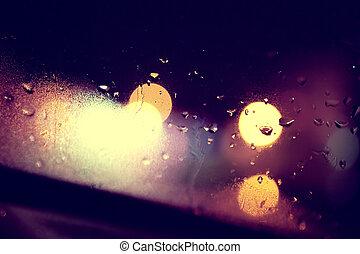 Wet window background