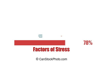 Stress causes modern human health issue typography concept...