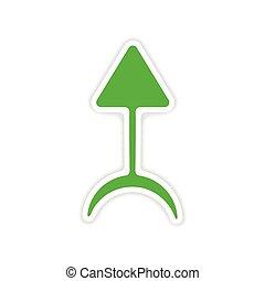 icon sticker realistic design on paper alchemy symbols