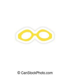 icon sticker realistic design on paper scuba mask