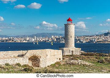 Lighthouse on IF island near Marseille, France
