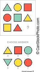 IQ test. Choose answer - IQ test. Choose correct answer....