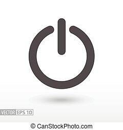 Shutdown - flat icon - Shutdown flat icon. Sign Shutdown....