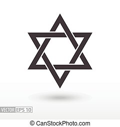 Star of David. Star flat icon. Sign Star. Vector logo for...