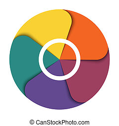Template infographics five position For diagram data...