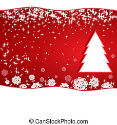 Red Christmas New Year background