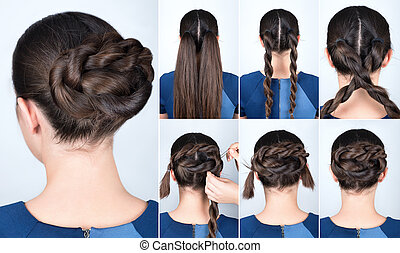 hairstyle twisted bun tutorial - Hair tutorial. Hairstyle...