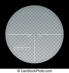 Target sight sniper symbol isolated on a transparent...