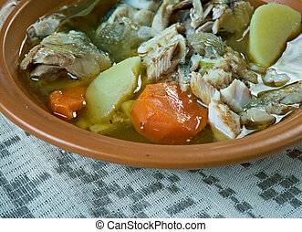 Fish soup with whitefish - Siberian Fish soup with...