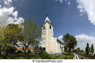 Village church at Lake Balaton - Village church near...