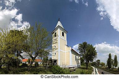 Village church at Lake Balaton - Village church near...