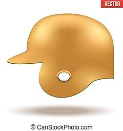Orange baseball helmet
