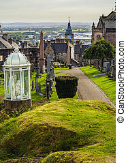 Stirling in Scotland - UK, Scotland, Stirling, View of the...