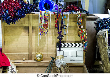 Movie stage prop - The movie stage prop is photographing the...
