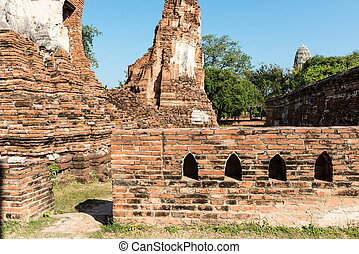 Temples of Thailand Ayutthaya historical park, useful for...