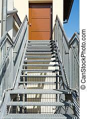 Steel stairs and steel railings