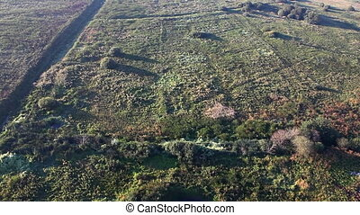 View on plain from hot air balloon