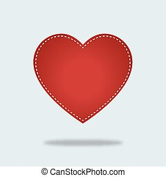 Red heart Vector Icon with stiches - Red heart Vector Icon....