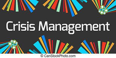 Crisis Management Dark Colorful Elements