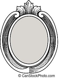 Vector Ornate Oval Frame - Detailed vector oval frame. Easy...