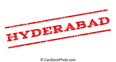 Hyderabad Watermark Stamp - Hyderabad watermark stamp. Text...