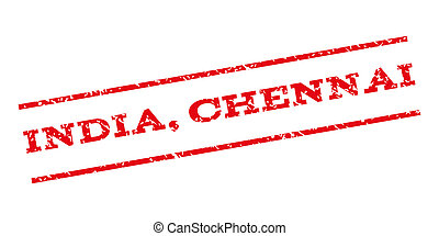 India Chennai Watermark Stamp - India Chennai watermark...
