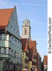 Historic Dinkeslb?hl - Historic old town of Dinkelsb?hl...