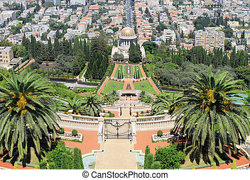 Bahai Gardens in Haifa, Israel. - Beautiful panoramic...