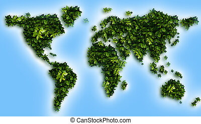 World Map - green World Map
