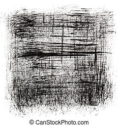 Black abstract background -  ink drawing