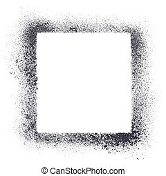 Square stencil frame isolated on the white background