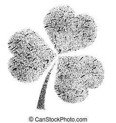 Stenciled Irish clover - Shamrock - stenciled Irish clover -...