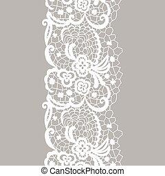 Lacy vintage trim. - White lacy vintage elegant trim. Vector...