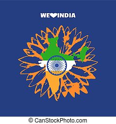 India republic celebration. National holiday poster element....