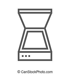 Scanner Line Icon - Scanner Thin Line Vector Icon Isolated...