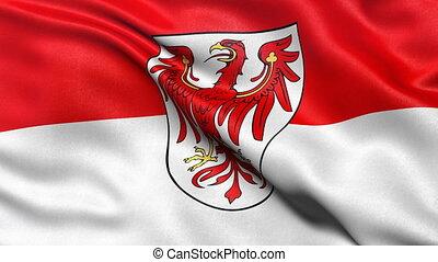 Brandenburg state flag seamless loop - Seamless loop of...