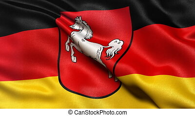 Lower Saxony state flag seamless loop - Seamless loop of...