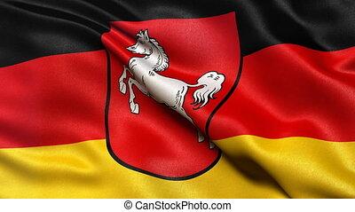 Lower Saxony state flag seamless loop - Seamless loop of...