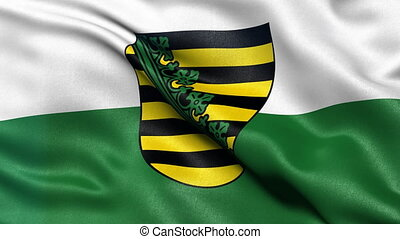 Saxony state flag seamless loop - Seamless loop of Saxony...