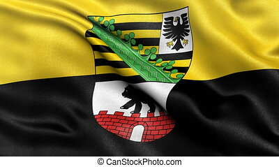 Saxony Anhalt state flag seamless loop - Seamless loop of...