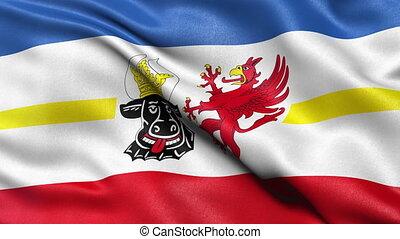 Mecklenburg state flag loop - Seamless loop of Mecklenburg...