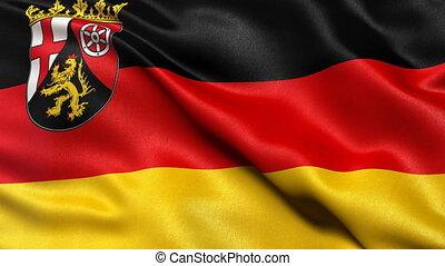 Rhineland Palatinate state flag loop - Seamless loop of...
