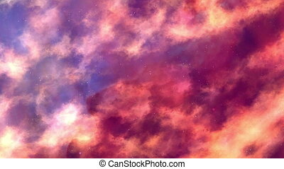 Flame Nebula In Motion - Quiet movement of the camera in...