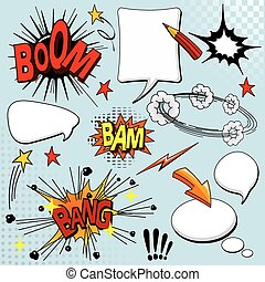 Set of comic elements - Big set of comic elements for your...